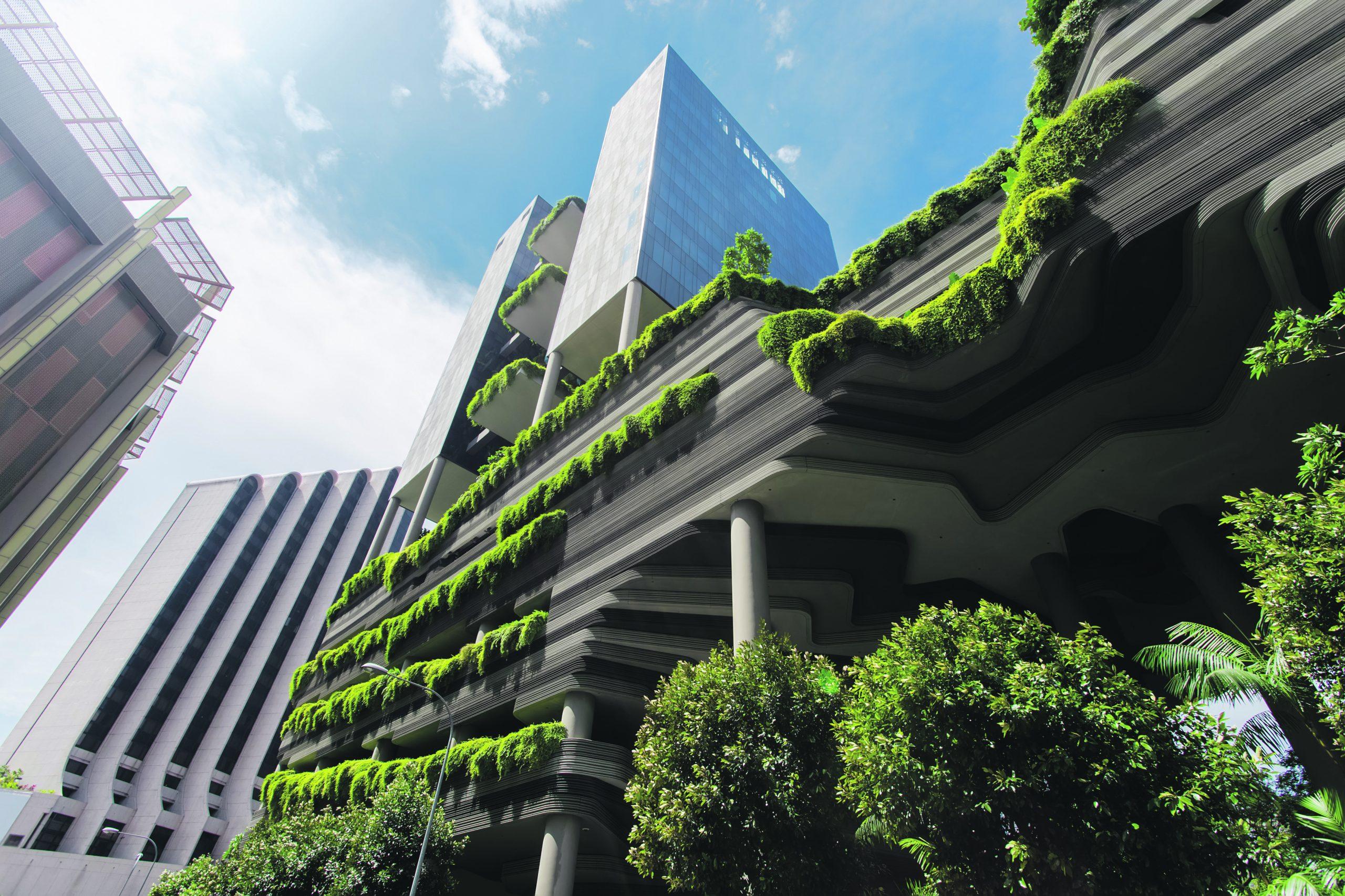 Green nature facade