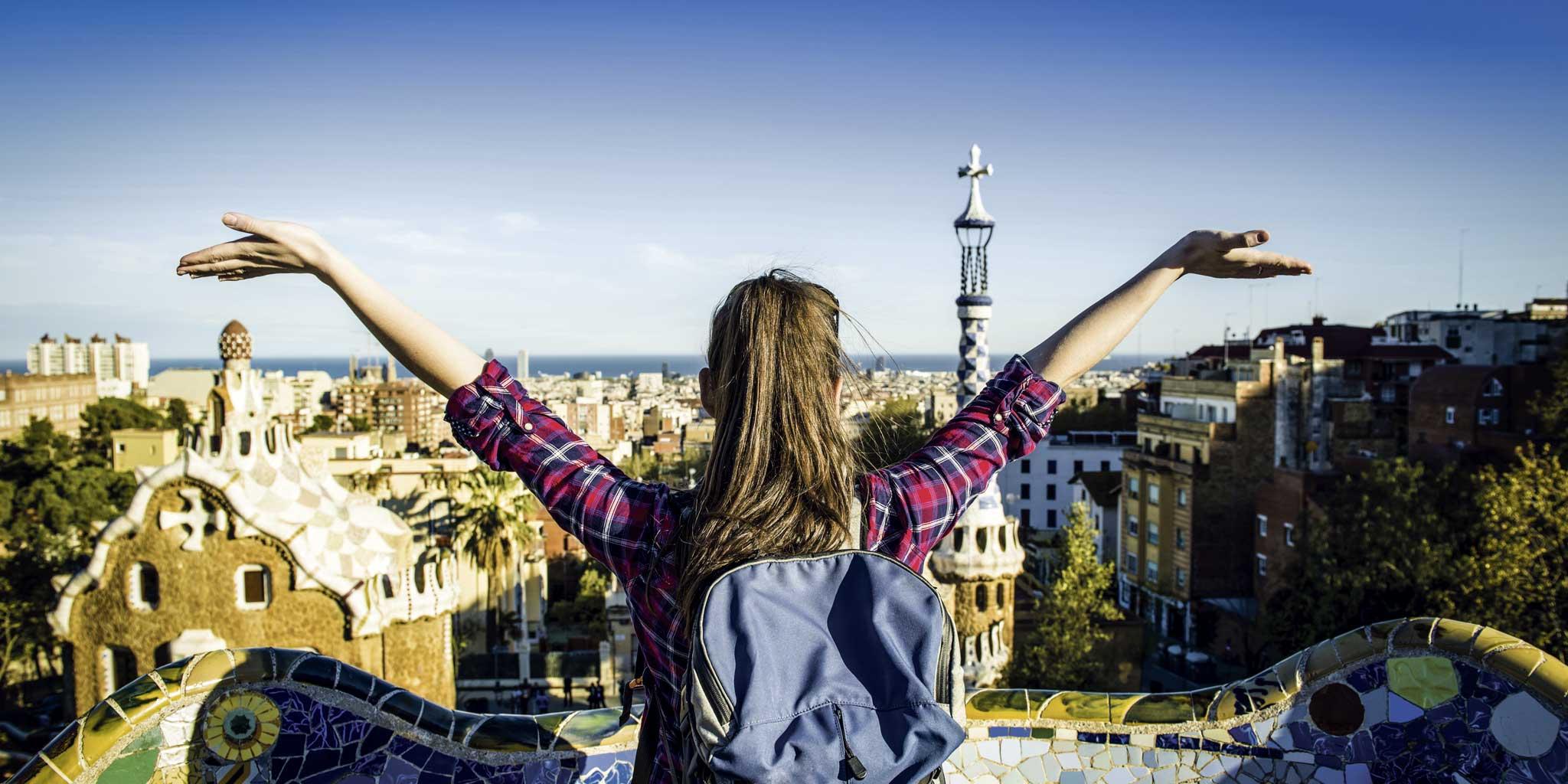 Meisje in Barcelona