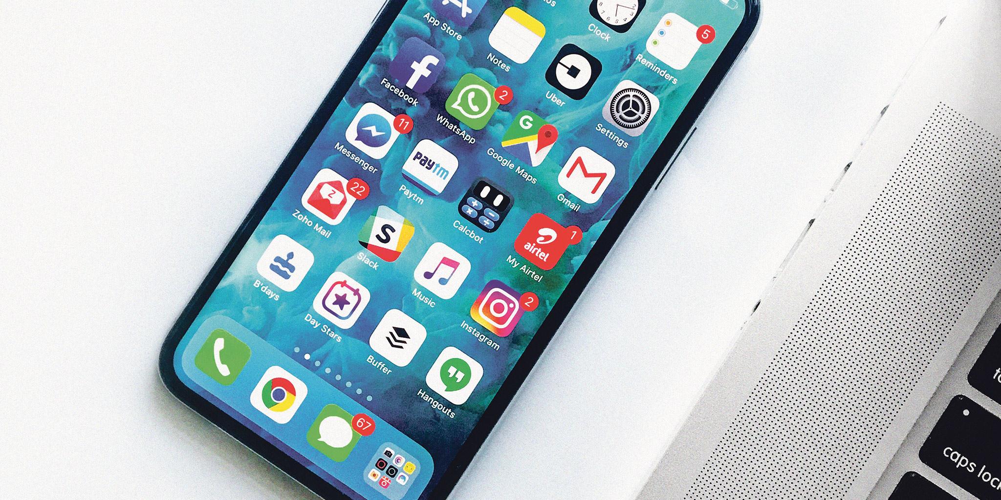Smartphone avec applications