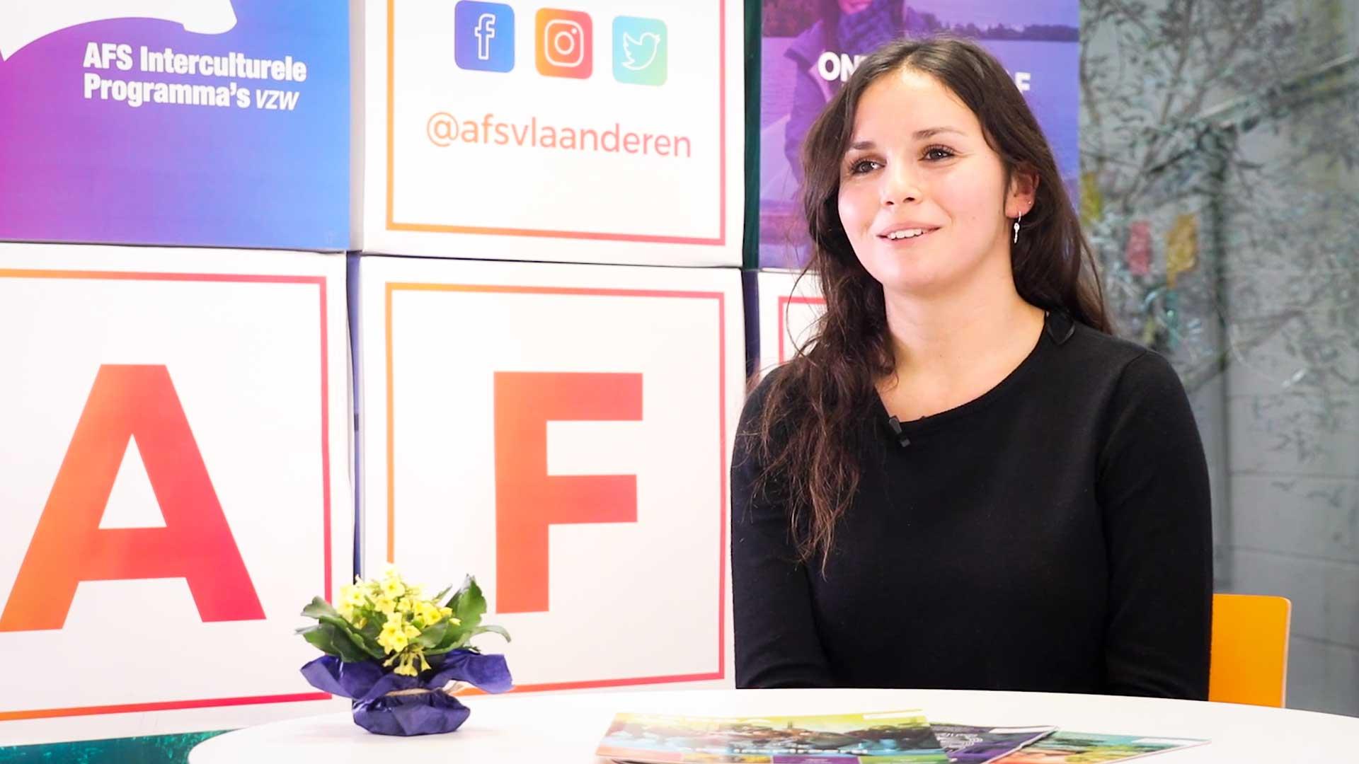 Charlotte Evens bij AFS Vlaanderen