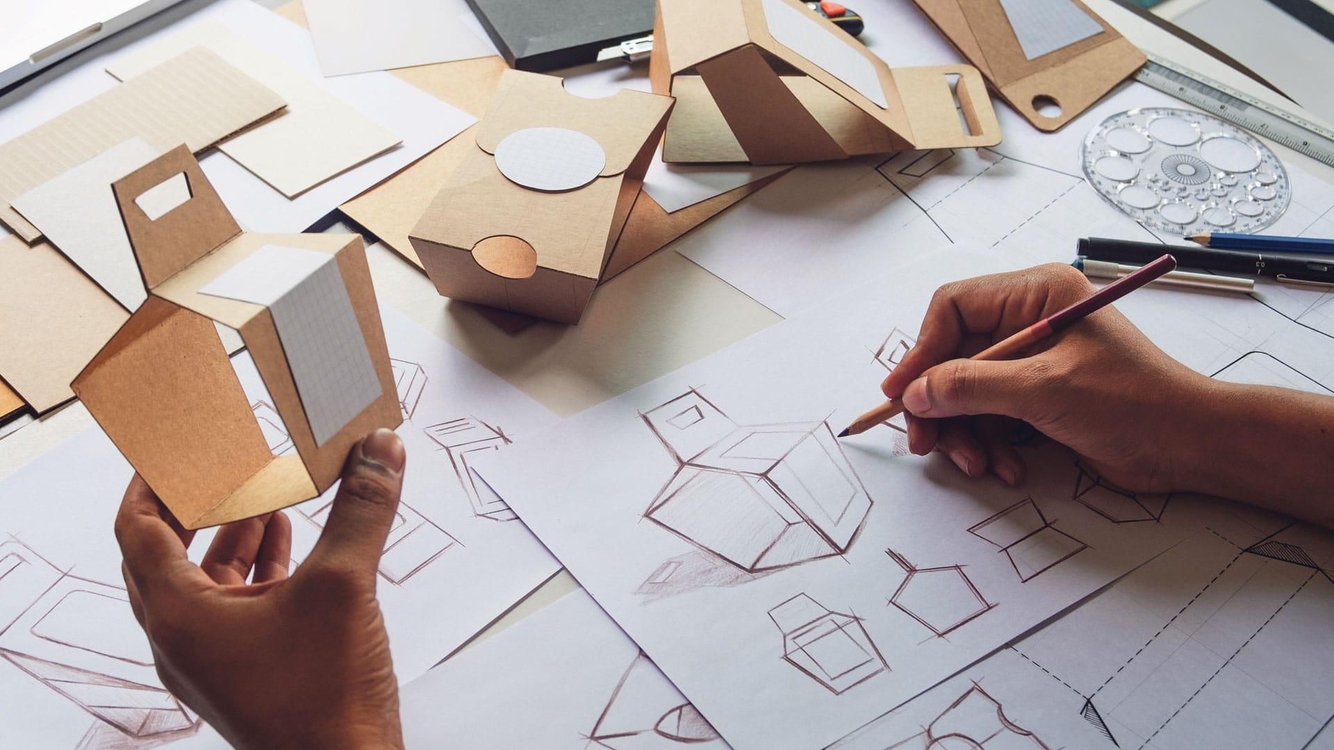 Design van verpakkingen