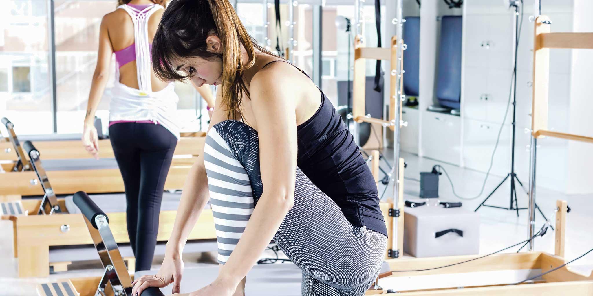 Vrouwen in de fitness