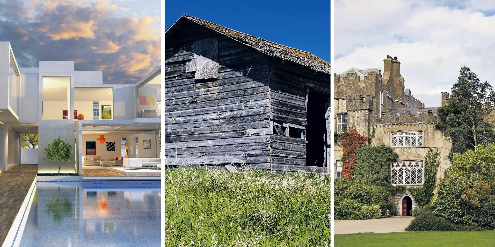 Verschillende soorten huizen