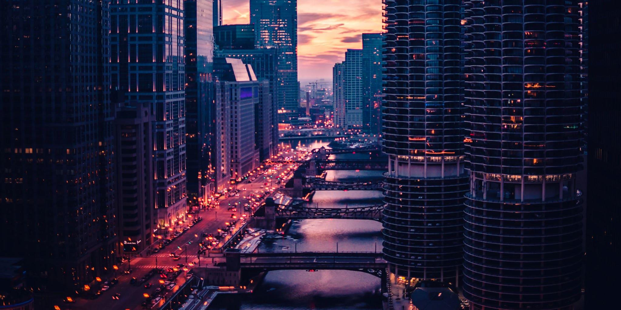 Drukke stad
