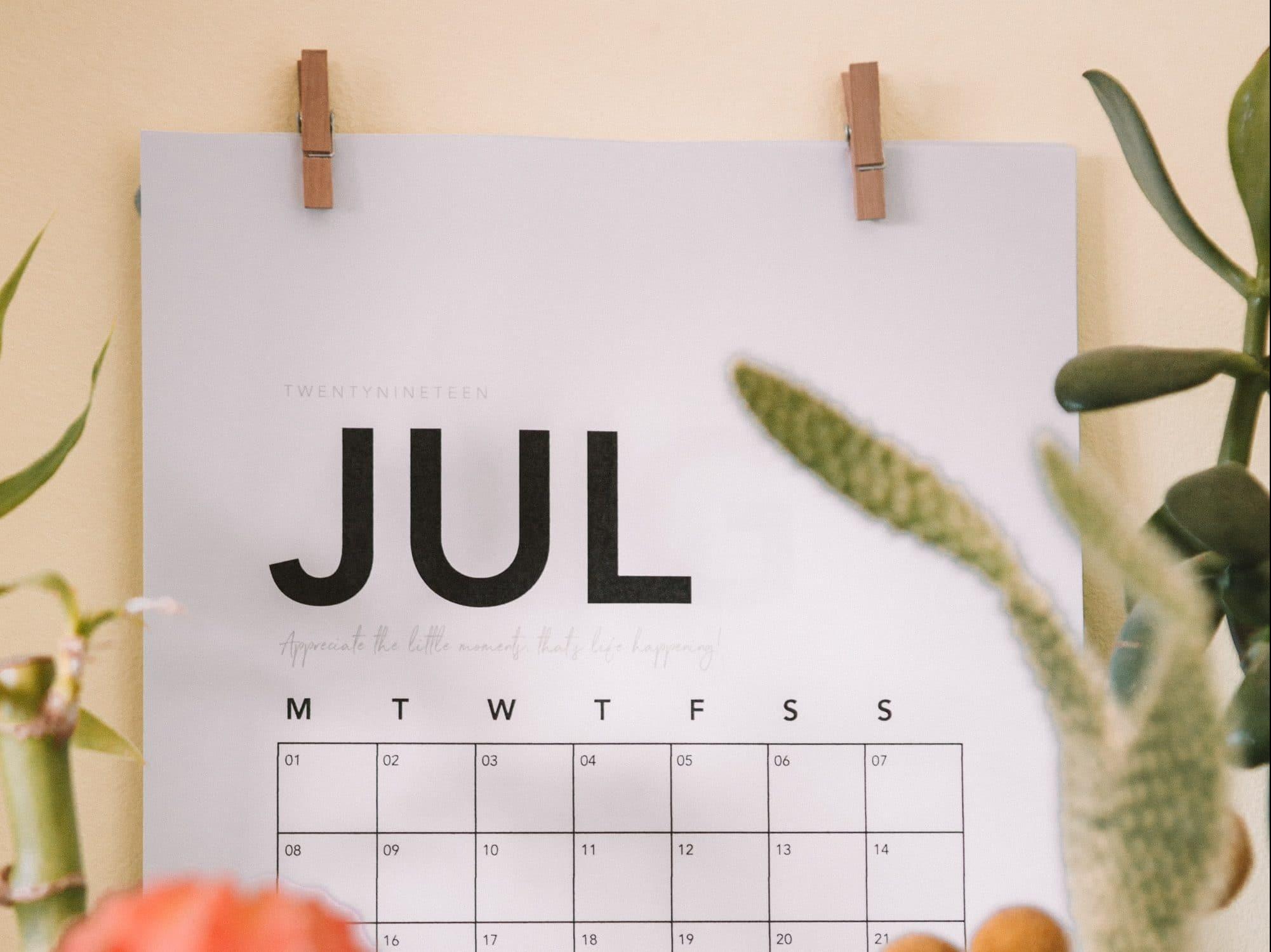 veranderingen juli