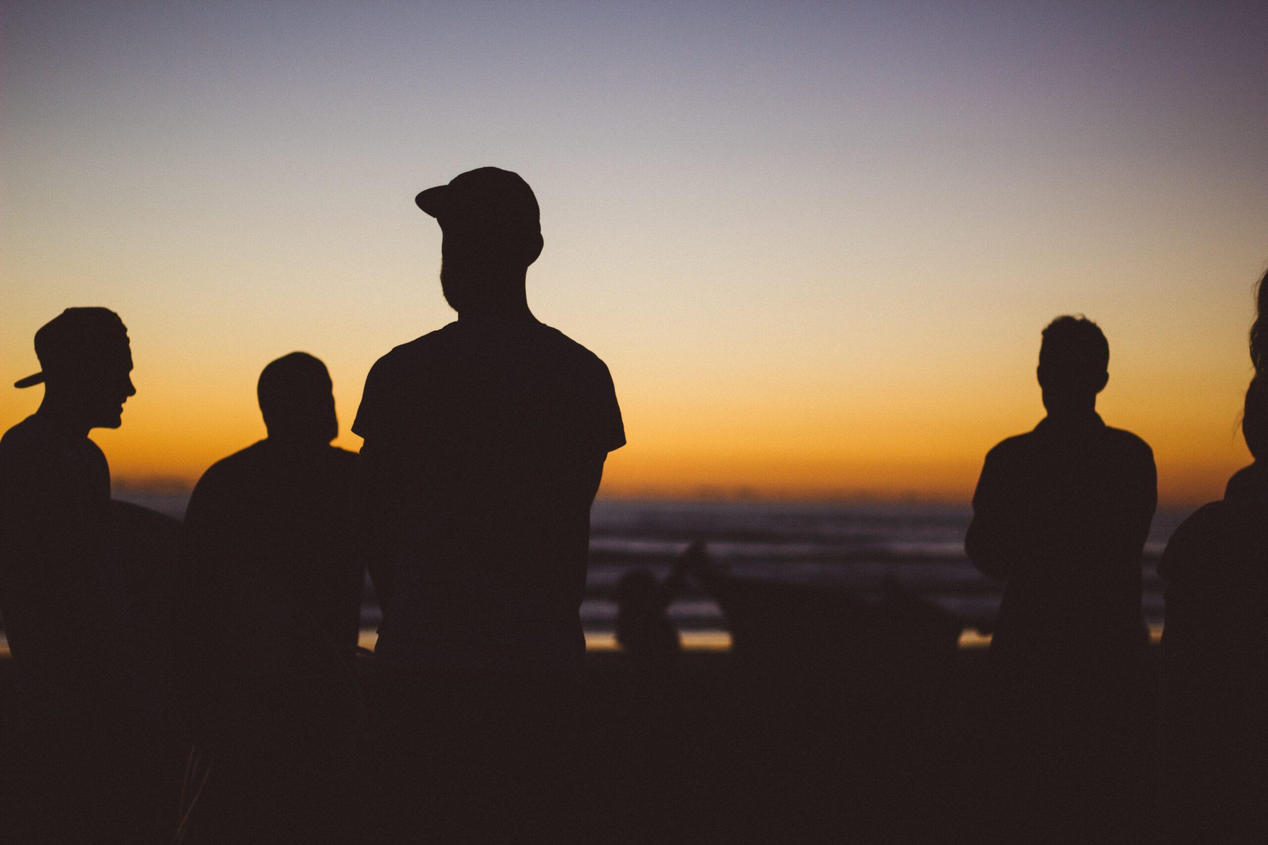 silhouet van mannen