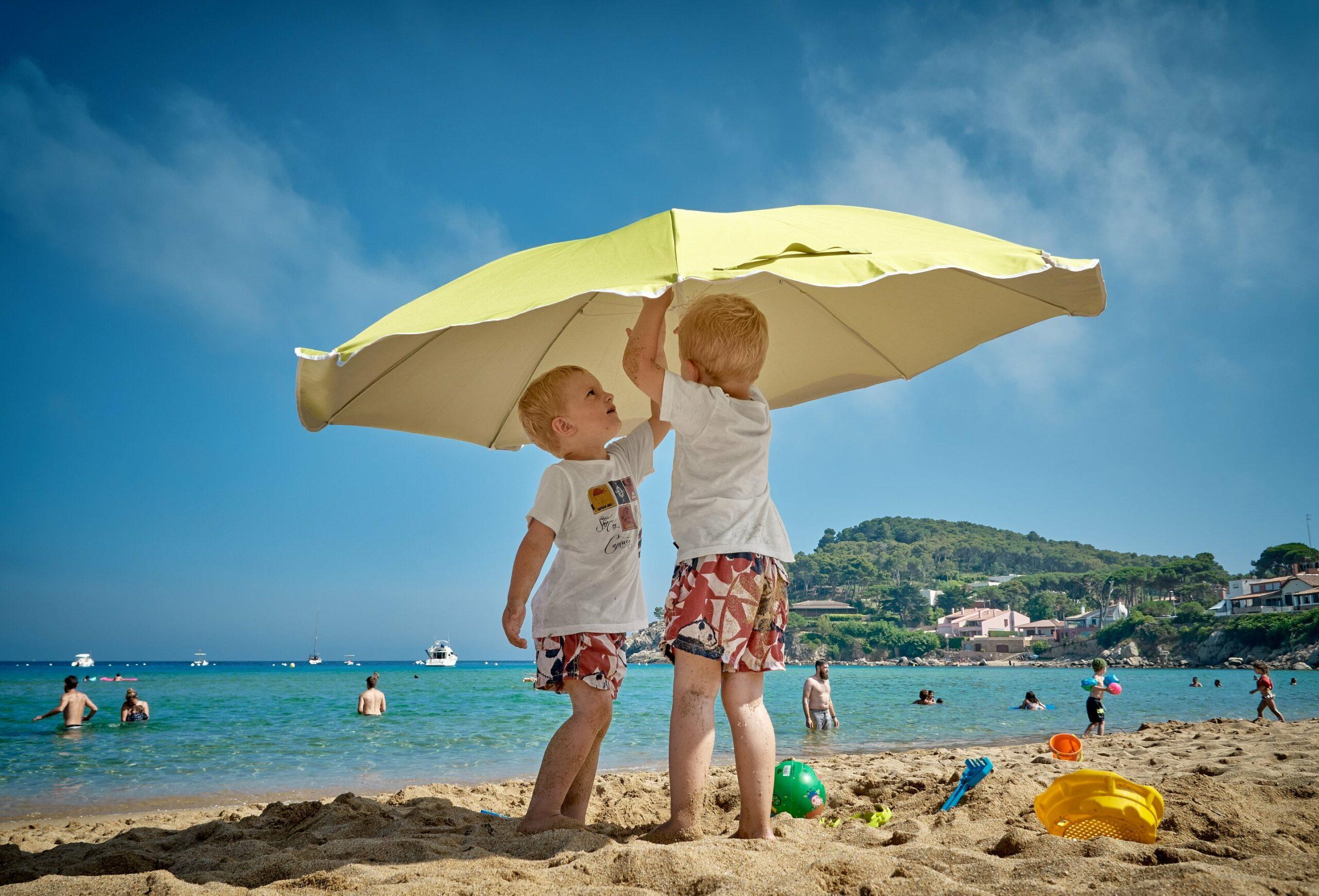 kinderen in de zomer